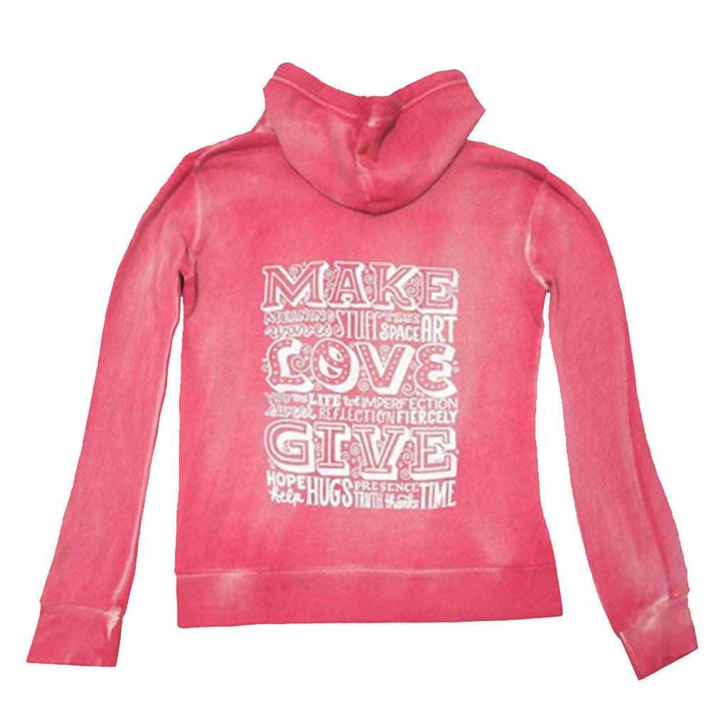 GLP Fleece Hoodie - Women's/Distressed Red
