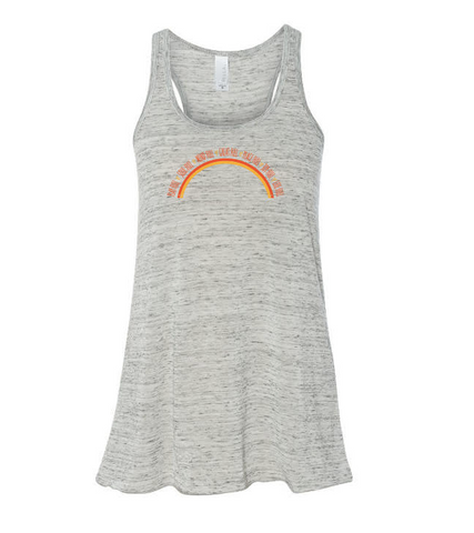 Tank - Rainbow - Burnout Heather Grey