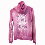 Hoodie - Intentional Life - Fitted/Distressed Dragonfruit