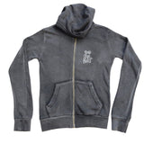 Hoodie - Intentional Life - Fitted/Distressed Graphite