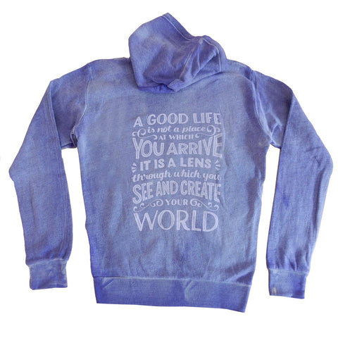 GLP Hoodie - Ladies/Distressed Orchid