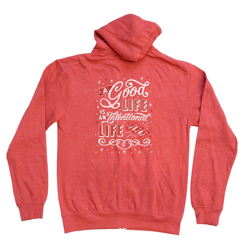 Hoodie - Intentional Life - Red
