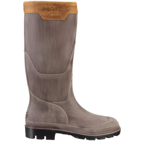 nat-2™ Rugged Prime Bully grey brown (M) | 100% waterproof rainboots