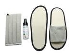thies ® Reise- und Geschenkset Maske & Slipper aus Biokeramik ® vegan x 100% made in Germany