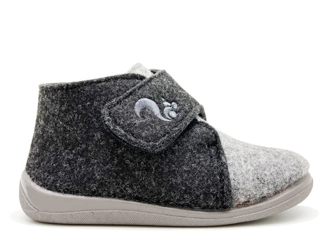 thies 1856 ® Recycled PET Kids Slipper Boot vegan grey anthrazite (K)