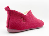 thies 1856 ® Recycled PET Slipper Boots bordeaux with Eco Wool (W)