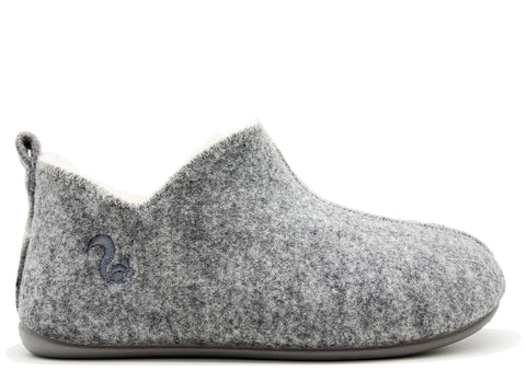 thies 1856 ® Slipper Boots light grey with Eco Wool (W)