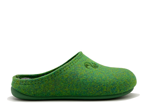 thies 1856 ® Recycled PET Slipper Kids vegan green (K)