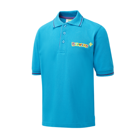 Beaver Tipped Polo (Turquoise)