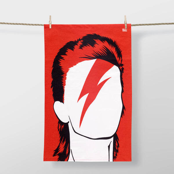 Rock Star 'David Bowie' Tea Towel *Made In The UK*