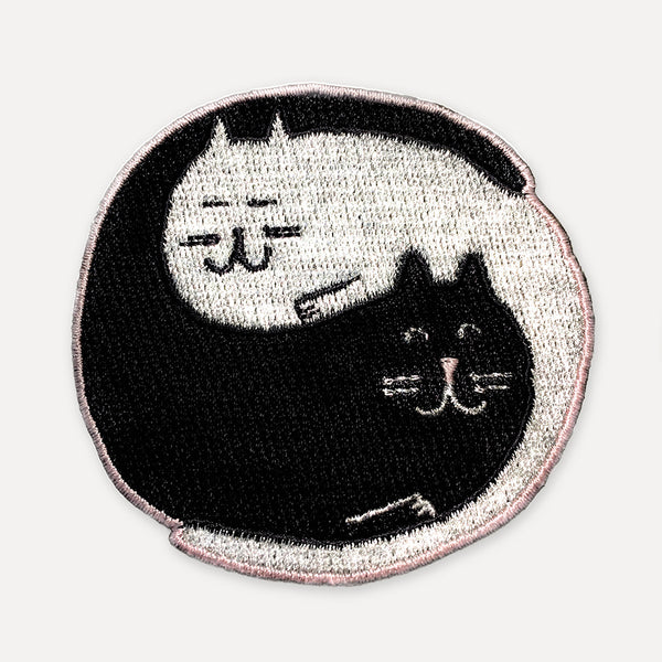 'Yin Yang Cats' Iron-On Patch *NEW*