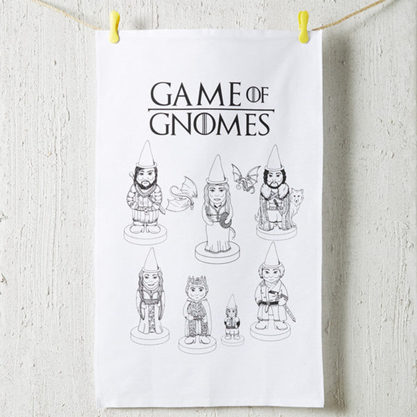 'Game of Gnomes' Tea Towel *Made in the UK*