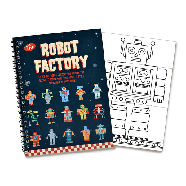 Robot Factory - Colouring Activity Book