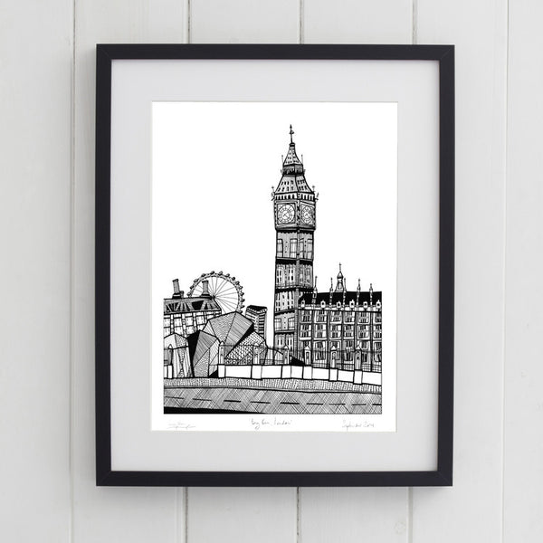 'Big Ben' Art Print - Signed by Cecily Vessey 2015