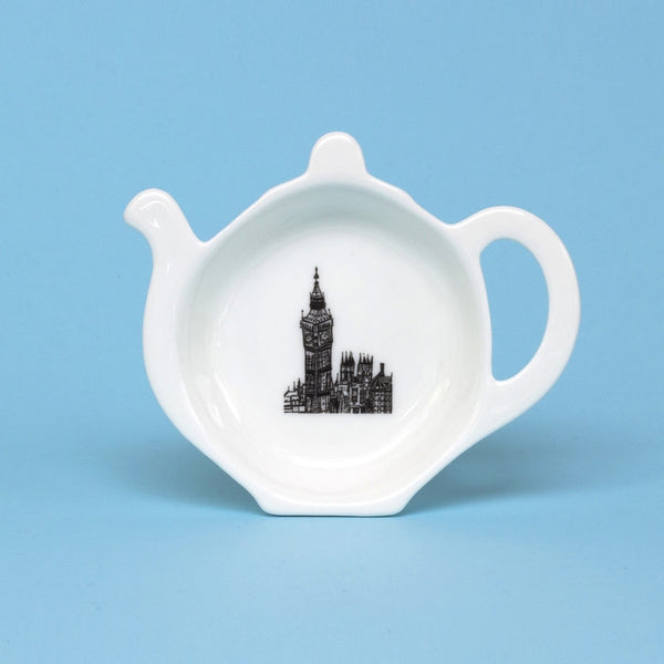 'Big Ben' Bone China Tea Bag Tidy *Made in the UK*