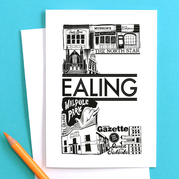 'Best of Ealing' Greetings Card