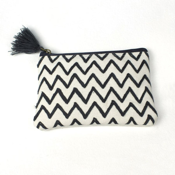 'Zig Zag' Canvas Tassel Purse
