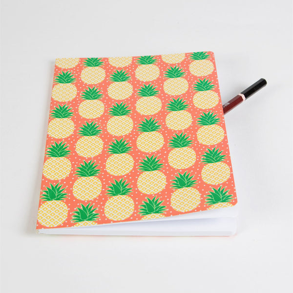 'Pineapple' A5 Plain Notebook *NEW*