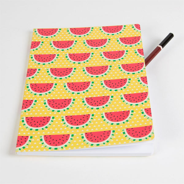 'Watermelon' A5 Plain Notebook