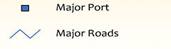 LNG Major Port and Major Roads