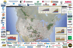 Major North American Resource Plays & Infrastructure Map
