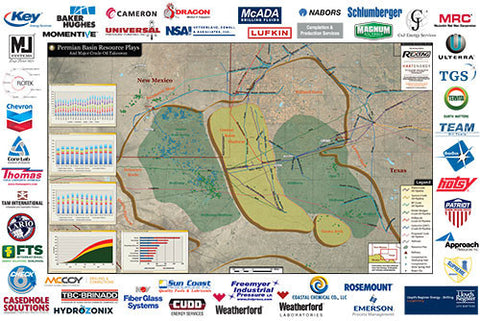 Permian Basin Wall Map