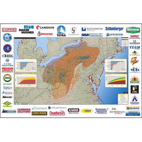 Marcellus and Utica Shale Map