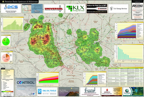 Permian Basin Map - oil and gas upstream midstream map