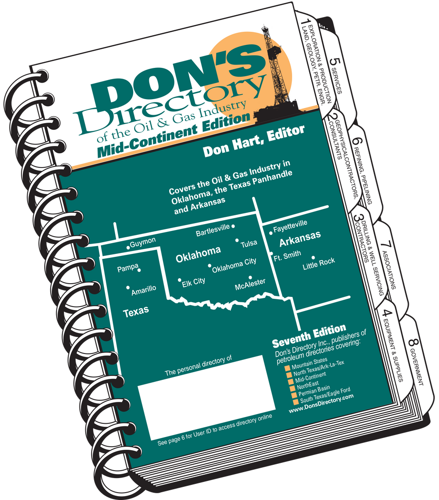 Don's Directory Mid-Continent Edition covers Oklahoma, the Texas Panhandle, Kansas and Arkansas