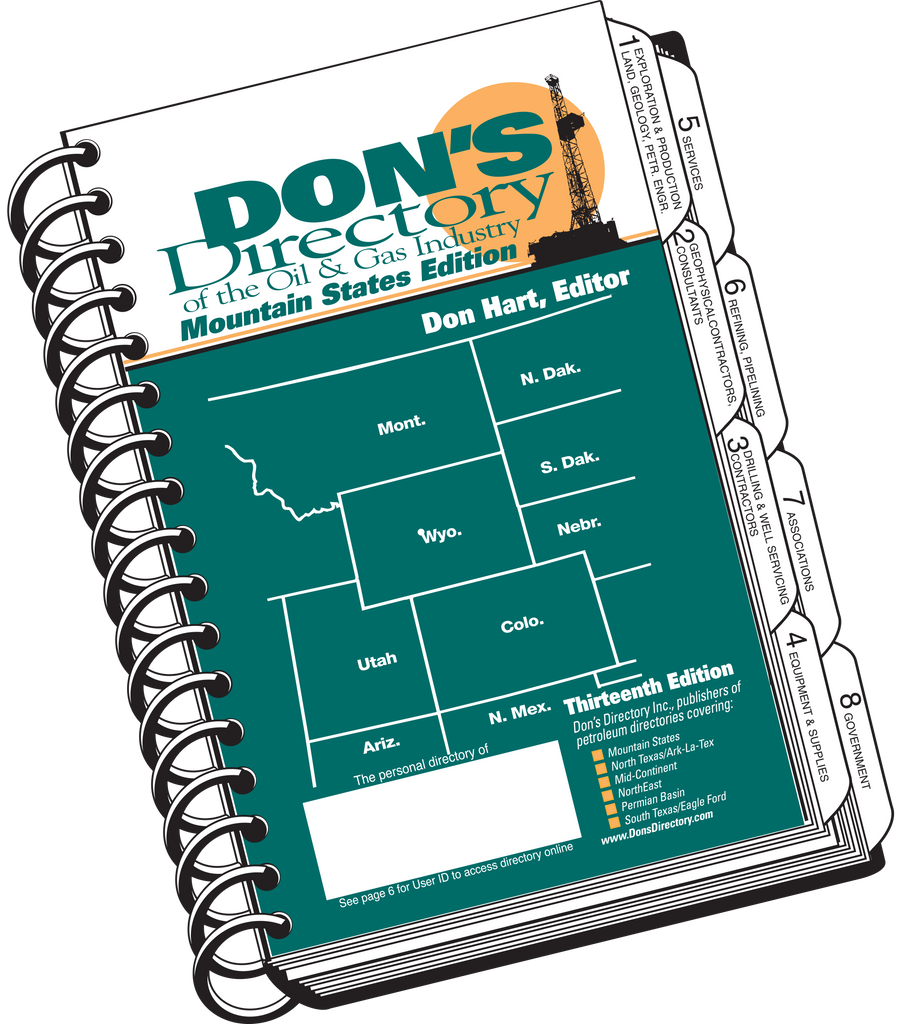 Don's Directory Mountain States Edition covers Montana North Dakota South Dakota Wyoming Nebraska Utah Colorado Arizona Northern New Mexico