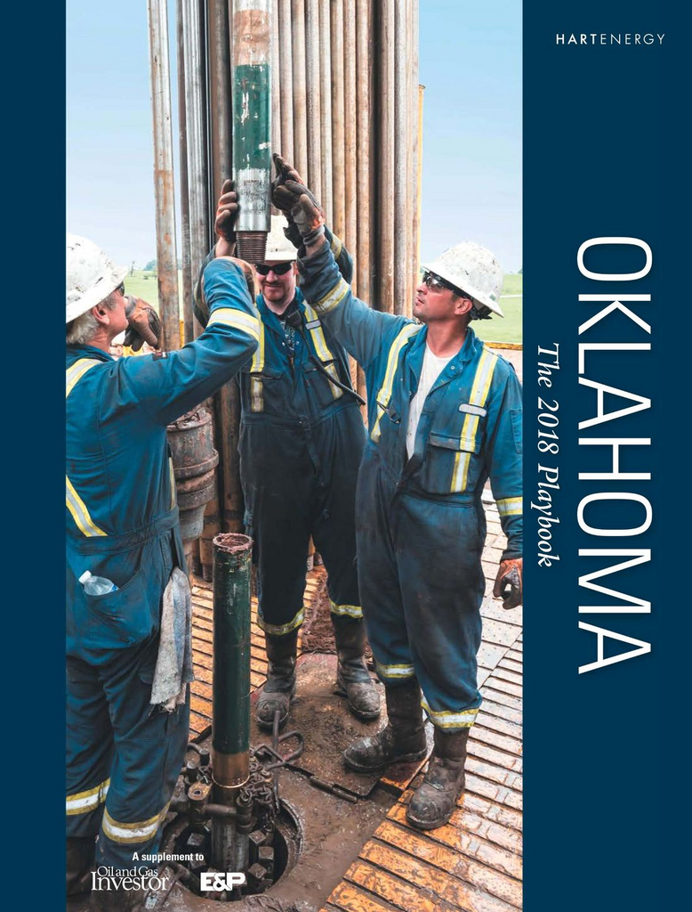 Oklahoma oil and gas playbook, includes Oklahoma, Woodford, Scoop and Stack reservoirs, active operators, economics, key technologies and infrastructure issues.