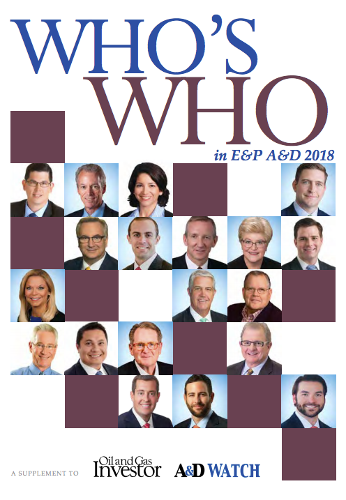 Who's Who in E&P A&D Directory by Oil and Gas Investor