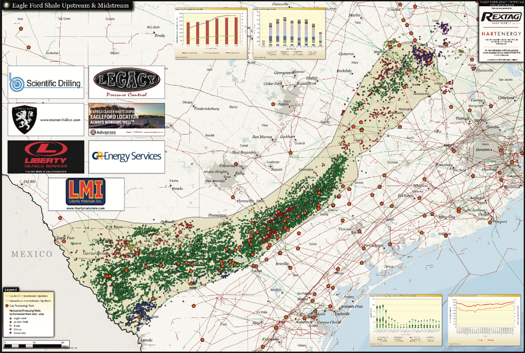 Eagle Ford Shale Map: Upstream and Midstream