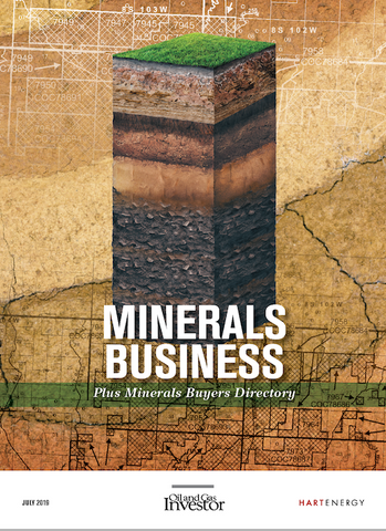 Oil and gas directory and minerals business report