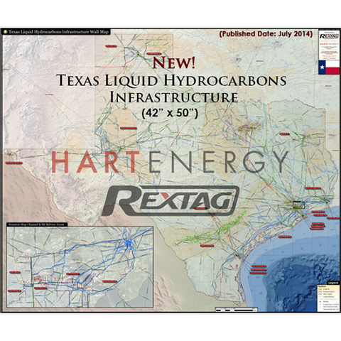 Texas Liquid Hydrocarbons Infrastructure Map