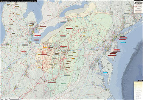 Appalachian Basin Infrastructure Wall Map