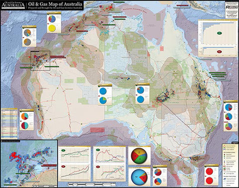 Australia Oil & Gas Infrastructure Wall Map