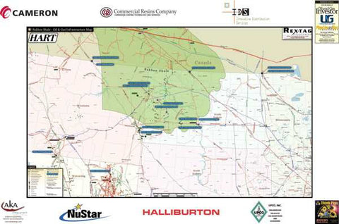 Bakken Midstream Infrastructure Wall Map