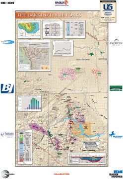 Bakken/Three Forks Shale Map