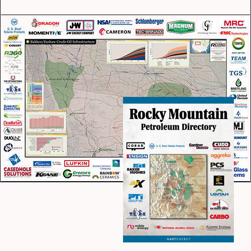 Bakken Exshaw Crude Oil Map & Rocky Mountain Directory