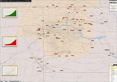 2014 Bakken Infrastructure Wall Map