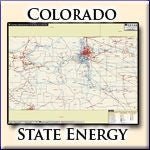 Energy Infrastructure Wall Map of Colorado