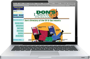 Don's Directory continental subscription online database covers  Texas Arkansas Louisiana Permian Basin Eagle Ford Mountain States Mid-Continent Northeast