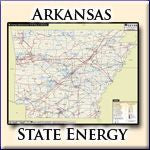 Energy Infrastructure Wall Map of Arkansas