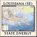 Energy Infrastructure Wall Map of Southeastern Louisiana