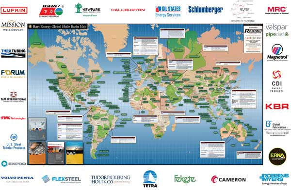 Global Shale Basin Map