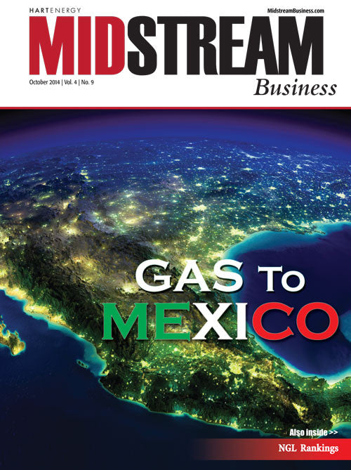 Midstream Business Magazine | October 2014 | Volume 4 | Issue 9