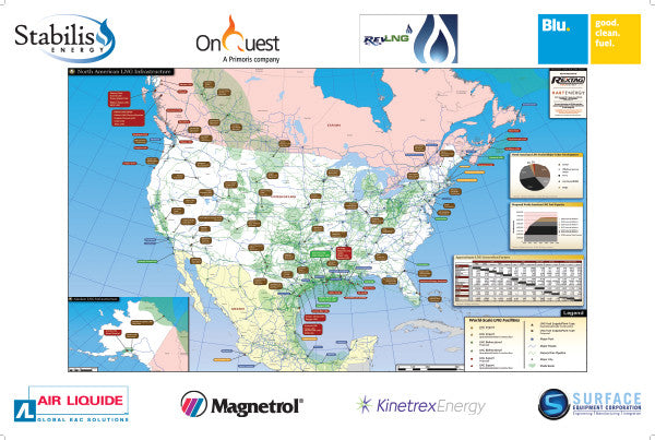 North American LNG Infrastructure Map
