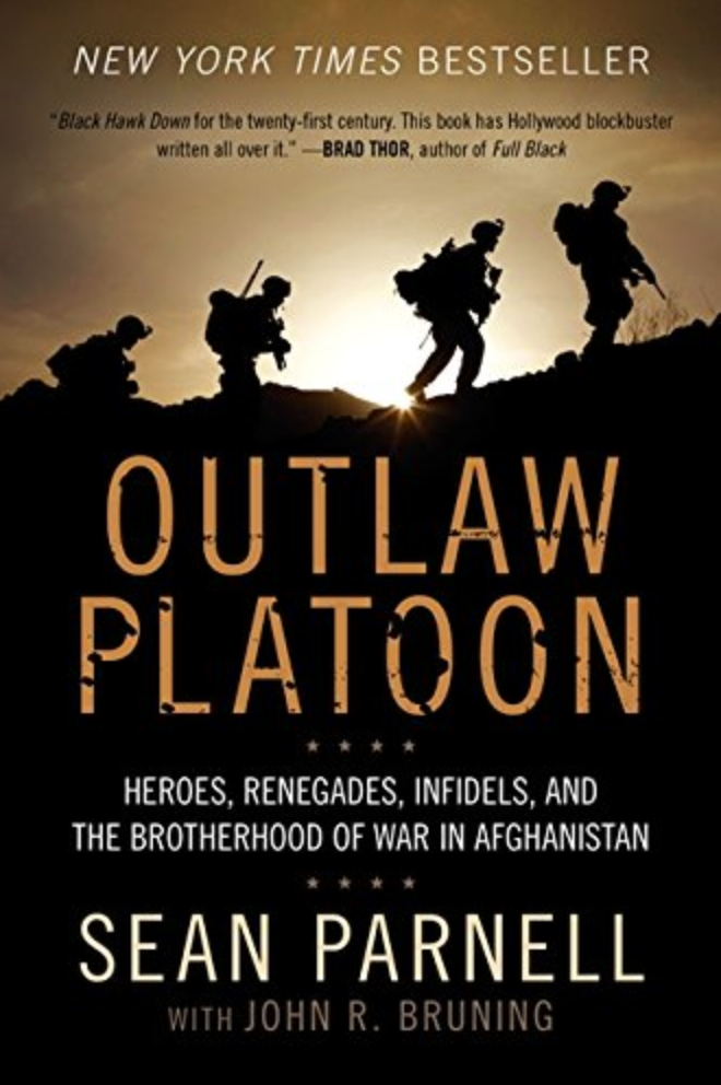 Outlaw Platoon by Sean Parnell, autographed book military hero