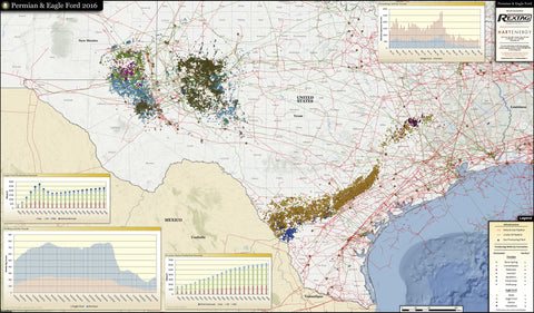 2016 Permian Basin & Eagle Ford Wall Map